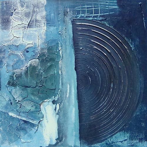 Alexandra von Burg, Trittico in blu - 1, Abstract art, Abstract Art