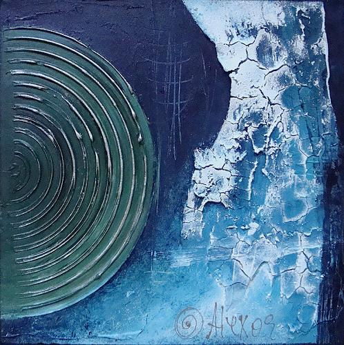 Alexandra von Burg, Trittico in blu - 3, Abstract art, Abstract Art, Modern Age