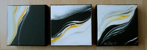 Alexandra von Burg, Senza titolo - 3 pezzi, Abstract art, Abstract Art, Modern Age