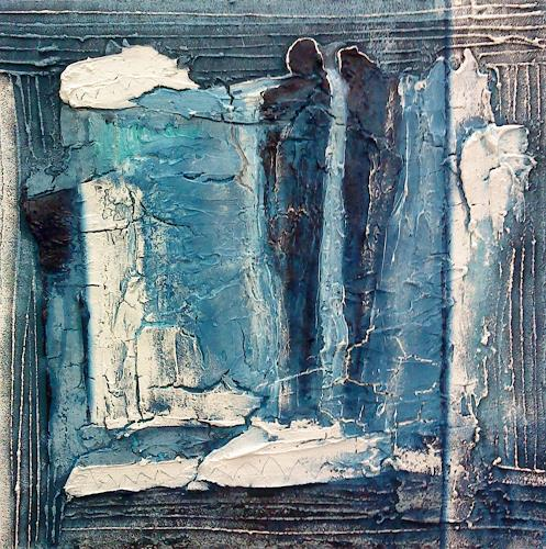 Alexandra von Burg, Passeggiata invernale, Abstract art, Abstract Art, Expressionism