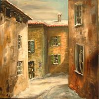 Riwi-Interiors-Villages-Landscapes-Winter-Modern-Times-Realism