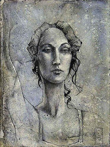 Roman Sprenger, à la barre, People: Portraits, People: Women, Expressionism