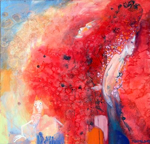 Johanna Leipold, Lady Of Fire, People: Women, Fantasy, Expressive Realism, Expressionism