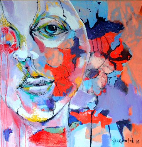 Johanna Leipold, Sie hat sich durchgeboxt, People: Faces, Fantasy, Expressive Realism, Abstract Expressionism