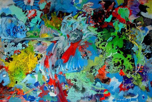 Johanna Leipold, Sie wollte nicht im Trüben fischen, Nature: Miscellaneous, Fantasy, Expressive Realism, Abstract Expressionism