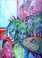 Johanna-Leipold-Fantasy-People-Group-Modern-Age-Expressive-Realism