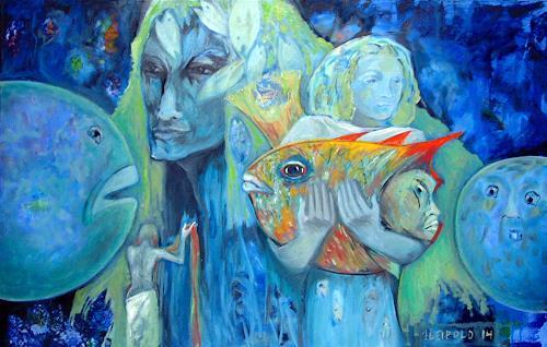 Johanna Leipold, Undine geht, Fantasy, Mythology, Expressive Realism, Expressionism