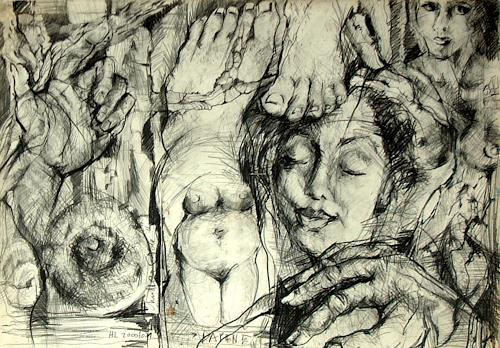 Johanna Leipold, Studie zu DAPHNE, Mythology, Fantasy, Expressive Realism