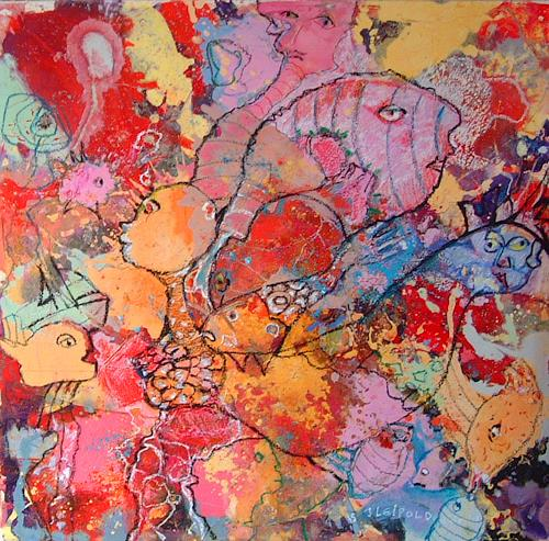 Johanna Leipold, We ´re swimming against the tide (Milo), Movement, Poetry, Expressive Realism