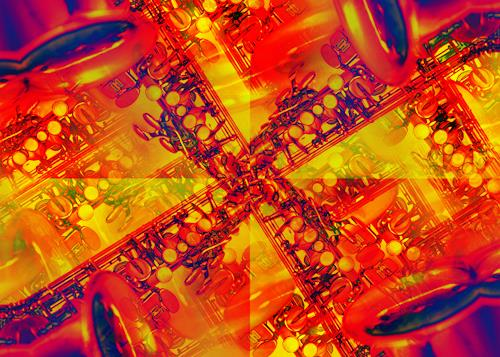 Niko Bayer, Saxophonia, Decorative Art, Music: Instruments, Contemporary Art