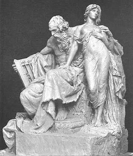 Gustav Eberlein, Harfner und Mignon vom Goethe-Denkmal in Rom, History