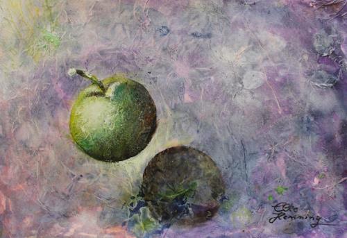 Elke Henning, Grüner Apfel, Harvest, Meal, Concrete Art