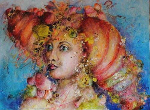 Elke Henning, Elisabeth, People: Women, Fantasy, Art Nouveau, Abstract Expressionism