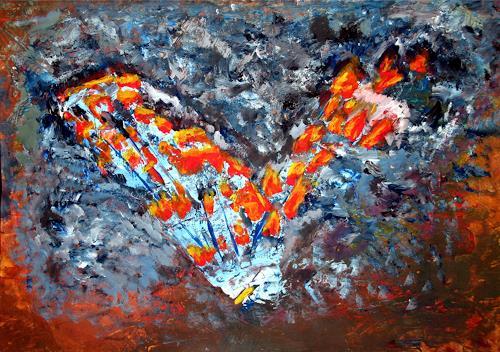 Hubert König, September Phoenix, Abstract art, War