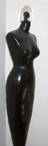 Thomas Joerger, Die schwarze Frau, Erotic motifs: Female nudes, Fantasy, Contemporary Art