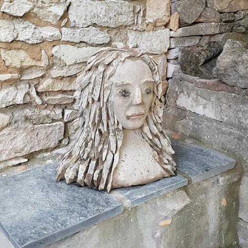 Thomas Joerger, El femme en pierre, People: Women, People: Faces, Contemporary Art