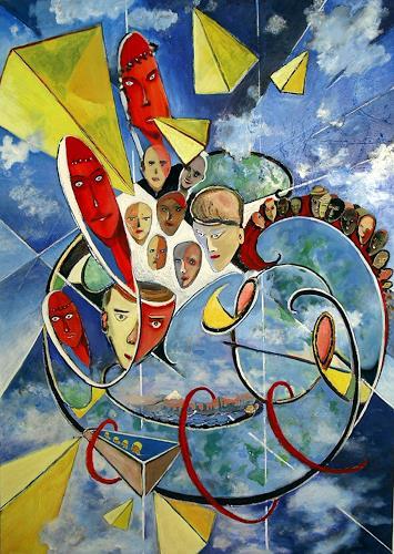 Thomas Joerger, Flying subjects, Society, Fantasy, Contemporary Art