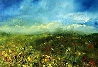 Uwe-Zimmer-Landscapes-Plains-Landscapes-Spring-Modern-Age-Impressionism-Post-Impressionism