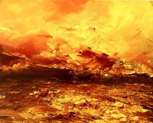 Uwe Zimmer, O.T. 2012 - 5, Landscapes: Summer, Landscapes: Sea/Ocean, Neo-Impressionism, Abstract Expressionism
