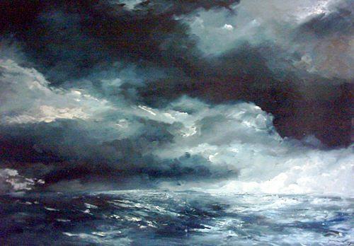 Uwe Zimmer, Heimfahrt, Landscapes: Sea/Ocean, Landscapes: Autumn, Modern Age, Abstract Expressionism