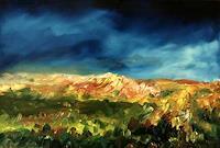 Uwe-Zimmer-Landscapes-Hills-Landscapes-Spring-Modern-Age-Impressionism-Post-Impressionism