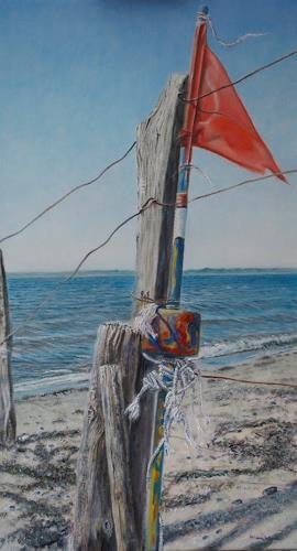 Heino Karschewski, Flagge 2, Nature: Water, Miscellaneous, Contemporary Art
