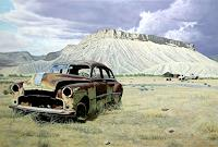 Manfred-Hoenig-Landscapes-Mountains-Traffic-Car-Modern-Age-Photo-Realism-Hyperrealism