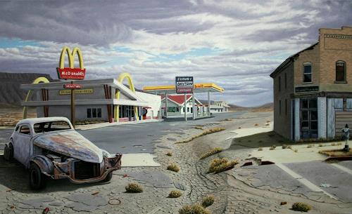 Manfred Hönig, The Age of Junk Food, Traffic: Car, Miscellaneous Landscapes, Postmodernism, Abstract Expressionism