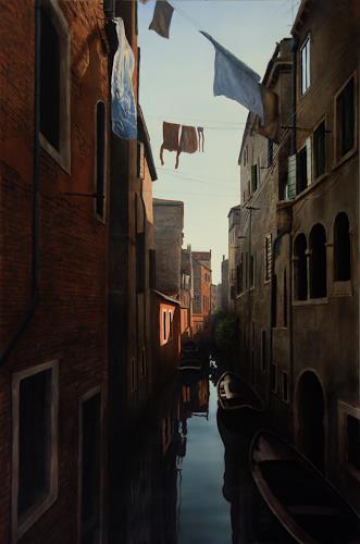 Manfred Hönig, Venezianischer Canale, Architecture, Realism, Expressionism