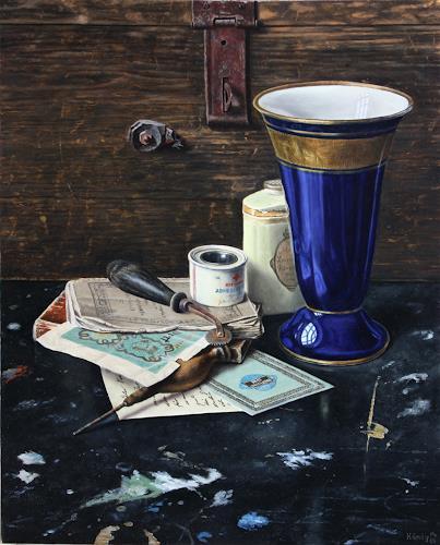 Manfred Hönig, Zeitfragmente, Still life, Decorative Art, Hyperrealism, Expressionism