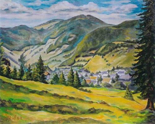 Willi Ruf, Bernau Schwarzwald, Landscapes: Summer, Impressionism
