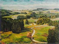 Willi-Ruf-Landscapes-Autumn-Modern-Age-Impressionism