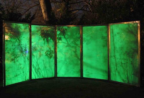Martin Böttcher, LICHTLAUB - Licht und Klanginstallation, Nature: Wood, Poetry, Contemporary Art