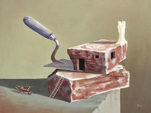 Joachim Lilie, Ziegel, Still life, Architecture, Contemporary Art, Abstract Expressionism