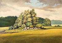 Joachim-Lilie-Landscapes-Plains-Plants-Trees-Modern-Times-Realism