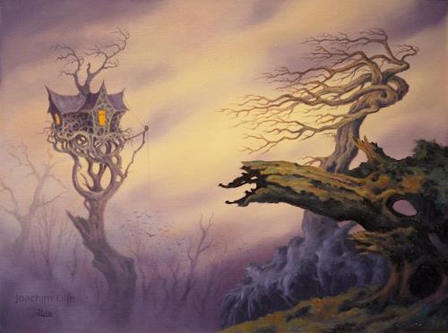 Joachim Lilie, Hexenhaus, Fantasy, Fairy tales, Contemporary Art, Expressionism