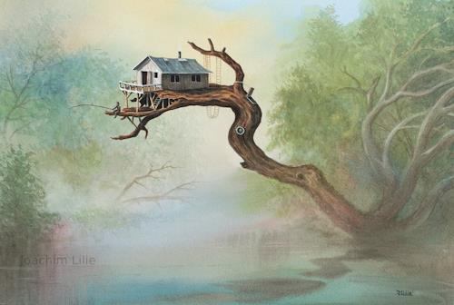 Joachim Lilie, Aussteiger, Landscapes: Summer, Fantasy, Contemporary Art, Expressionism