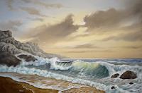 Joachim-Lilie-Nature-Water-Landscapes-Sea-Ocean-Modern-Times-Realism