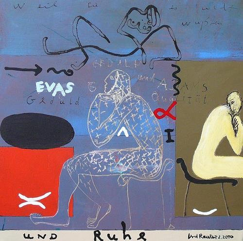 gerd Rautert, evas geduld und adams qualität, Poetry, Religion, Expressionism, Abstract Expressionism