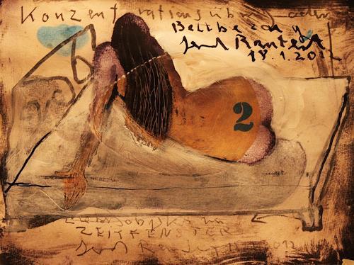 gerd Rautert, liebesobjekt im zeitfenster, Erotic motifs: Female nudes, Expressionism, Abstract Expressionism