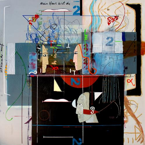 gerd Rautert, mein haus bist du, Emotions: Safety, Expressionism, Abstract Expressionism