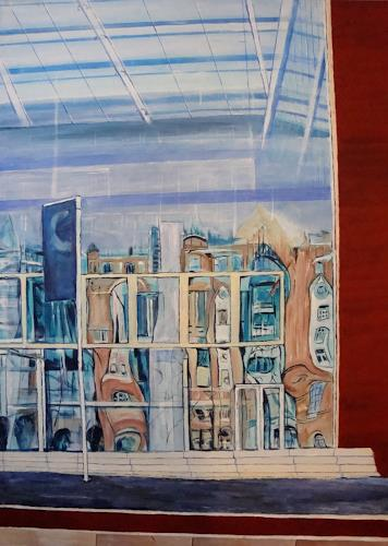 Günther Wunderlich, Spiegelung, Buildings: Houses, Interiors: Cities, Concrete Art