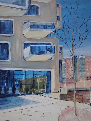 Günther Wunderlich, Hafencity im Spiegel, Architecture, Concrete Art