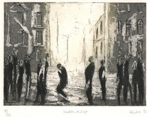 Elke Rehder, Kafka Stadtlandschaft, Society, Miscellaneous, Contemporary Art, Abstract Expressionism