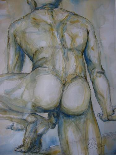 Robert Schrag, Aufstieg, Erotic motifs: Male nudes, Miscellaneous Erotic motifs, New Figurative Art, Abstract Expressionism