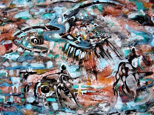 WERWIN, Am Wegrand, Abstract art, Abstract art, Contemporary Art