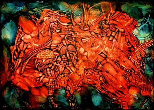 WERWIN, Highway to Hell, Situations, Contemporary Art, Abstract Expressionism