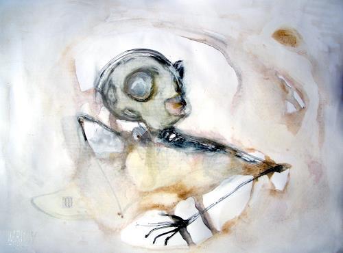 WERWIN, Im Nebel der Verdächtigen, Fantasy, Procesual Art, Abstract Expressionism