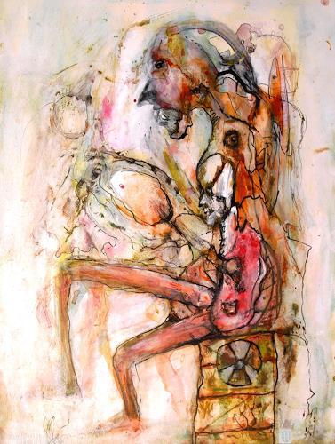 WERWIN, Langsames durchrosten im Zwischenlager, People, Contemporary Art, Abstract Expressionism
