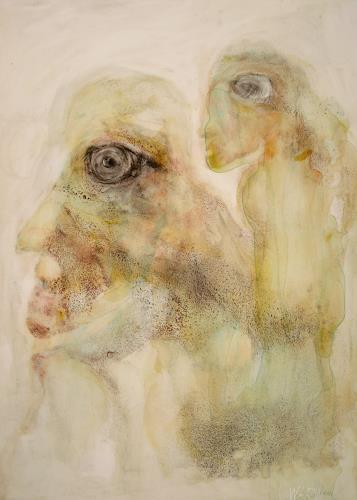 WERWIN, Absprache Fluchtplan Osterinsel, Fantasy, Surrealism, Abstract Expressionism